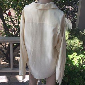 Jones New York Petite Silk Button Down Shirt